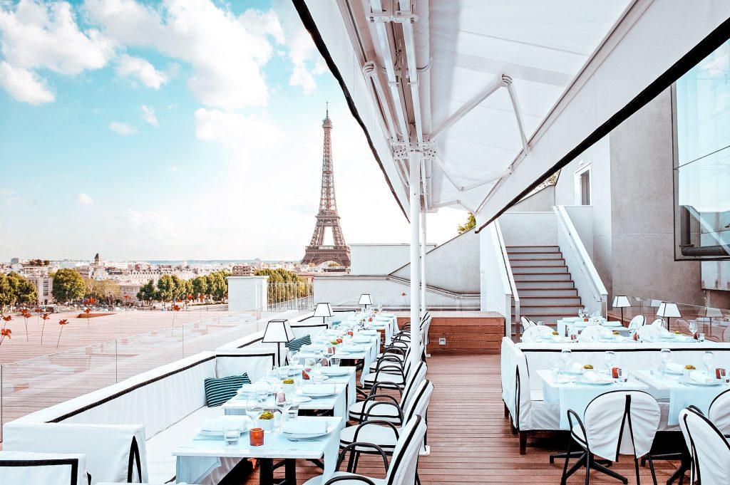best restaurants effel tower view maison blanche