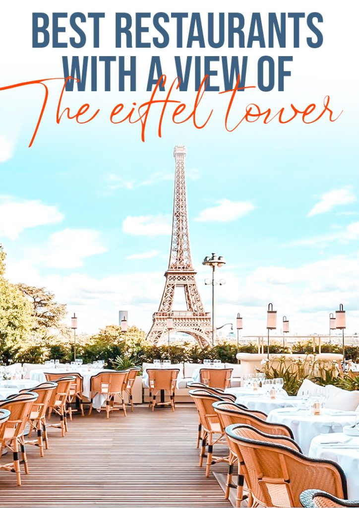 best restaurants with a view on the eiffel tower pinterest