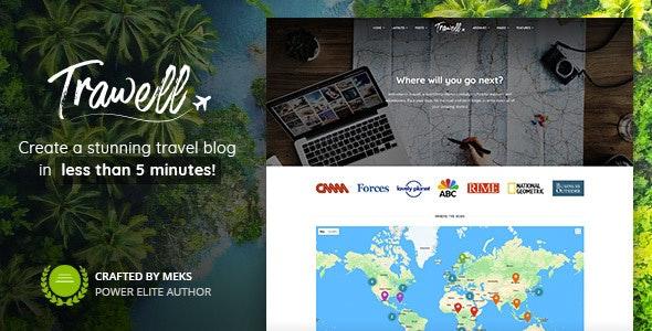best travel blogger themes wordpress trawell