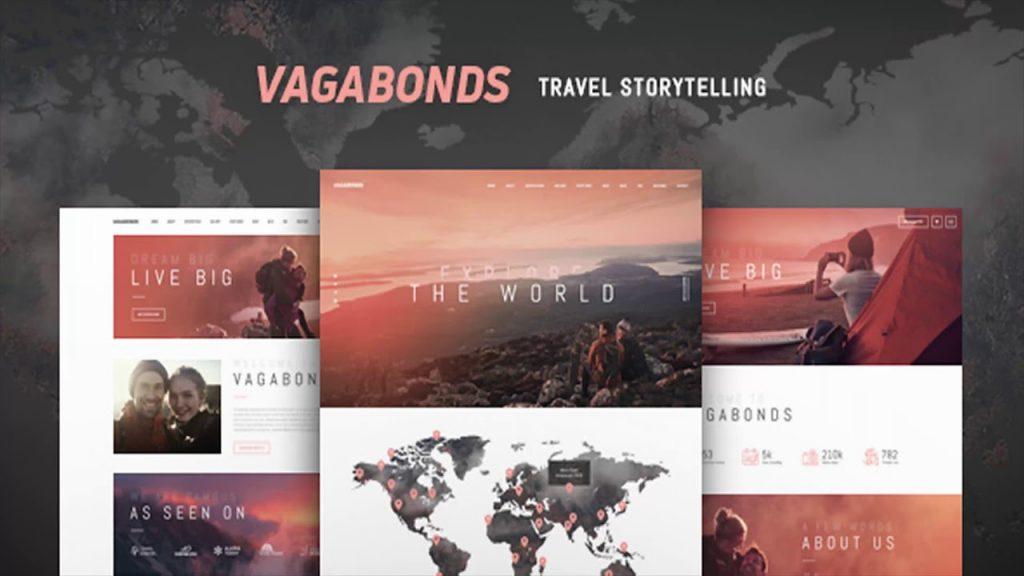 best travel blogger themes wordpress vagabonds