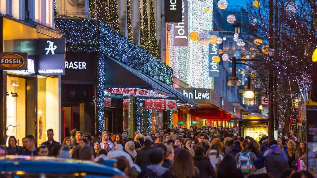 christmas in London oxford street