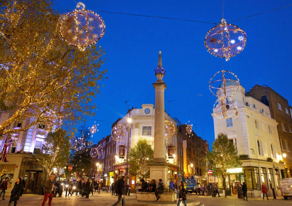 christmas in London seven dials