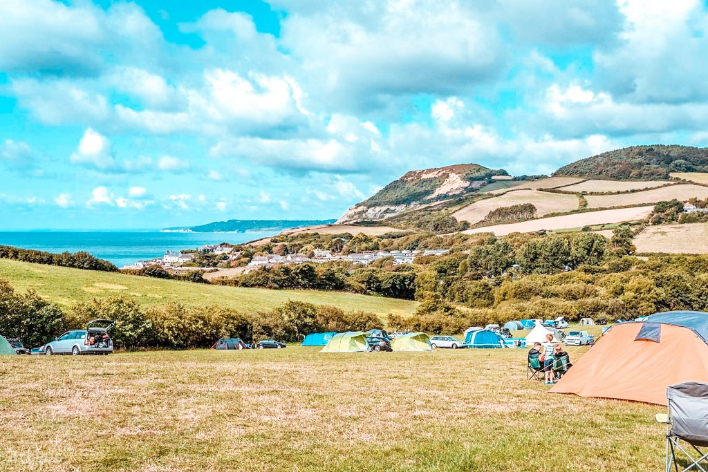 dorset campsite Golden Cap Estate