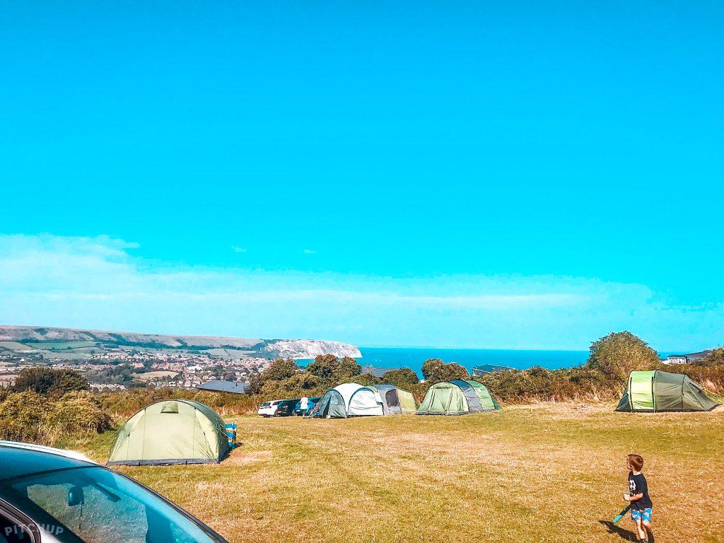 dorset campsite Swanage Coastal Park