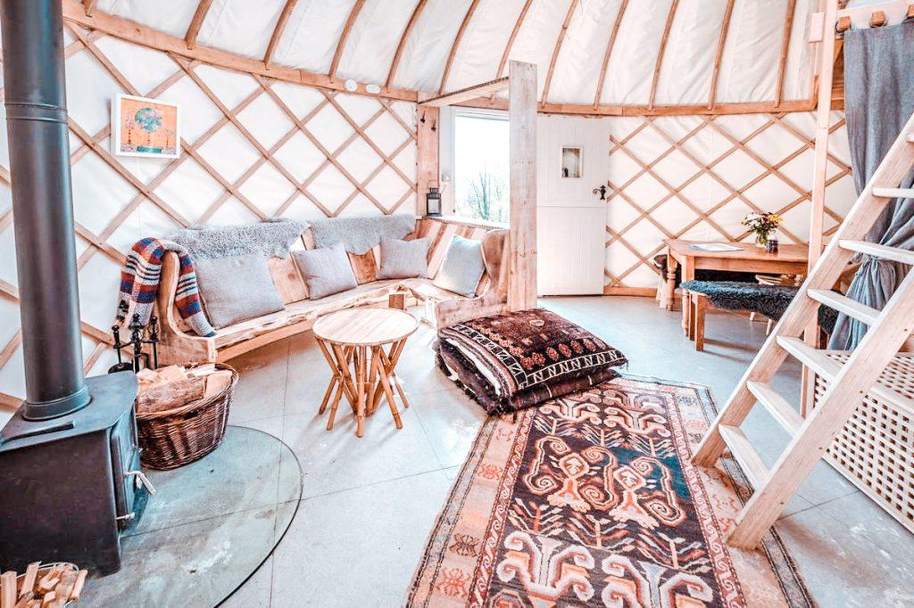 dorset campsite The Garlic Farm Yurts