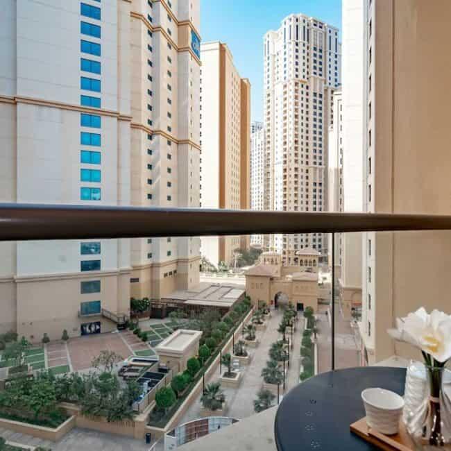 best airbnbs dubai marina 3b flat balcony