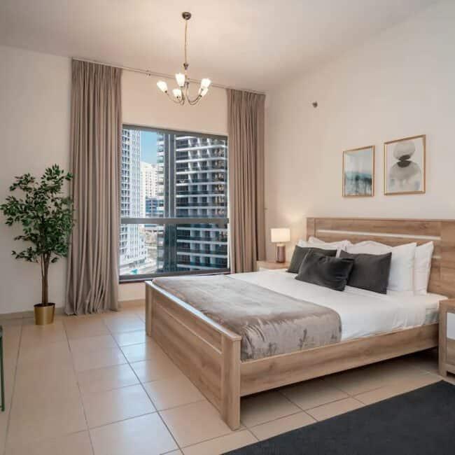 best airbnbs dubai marina 3b flat bed