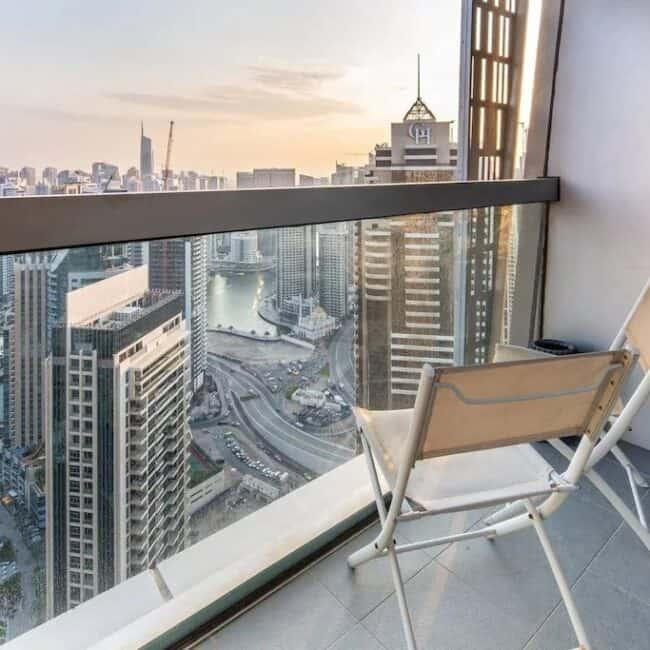 best airbnbs dubai marina luxurious bright and airy balcony
