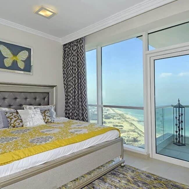 best airbnbs dubai marina ocean front bed