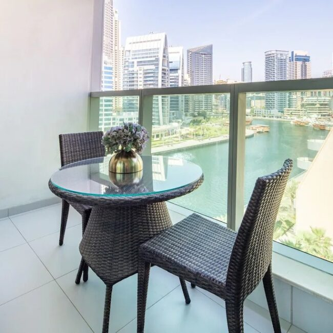 best airbnbs dubai marina stunning and modern bed outside