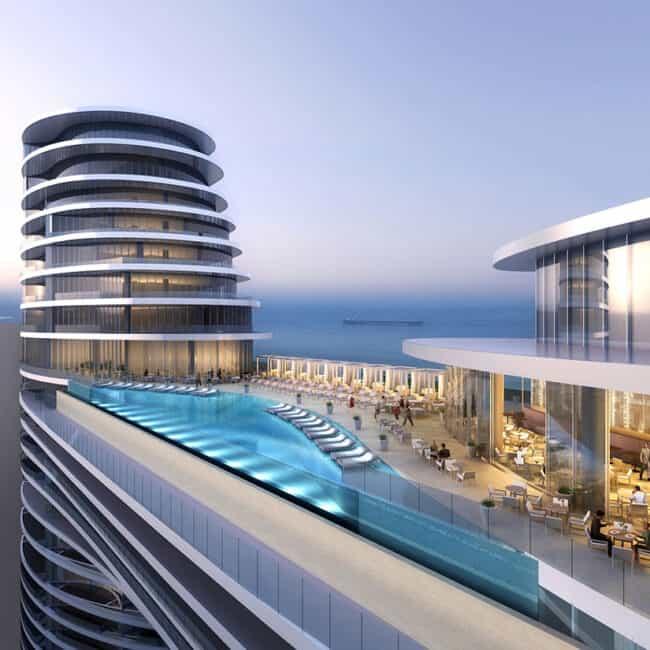 best pools dubai address sky view