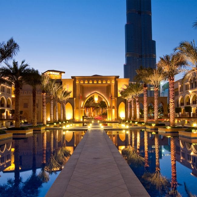 best pools in Dubai Palace Downtown