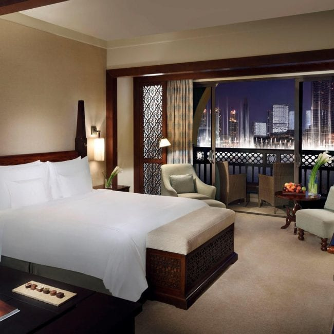 best pools in Dubai Palace Downtown room