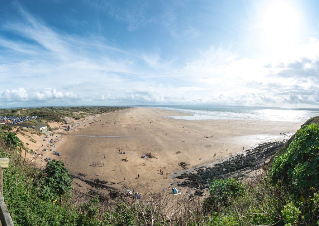 uk beautiful beaches Saunton Sands North Devon