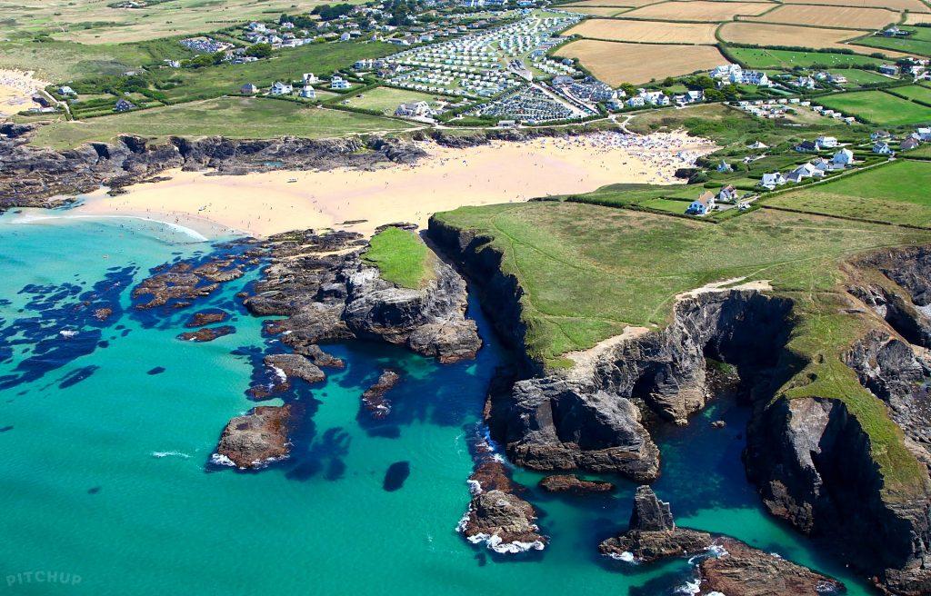 uk beautiful beaches Treyarnon Bay Cornwall