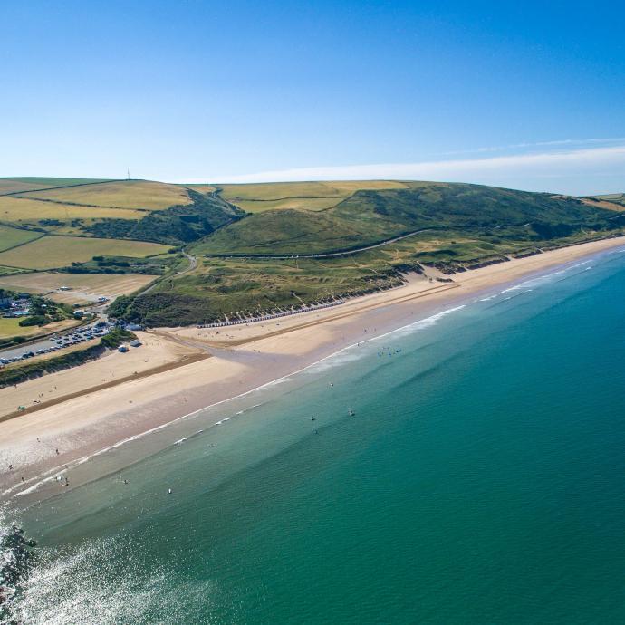 uk beautiful beaches Woolacombe Beach Devon