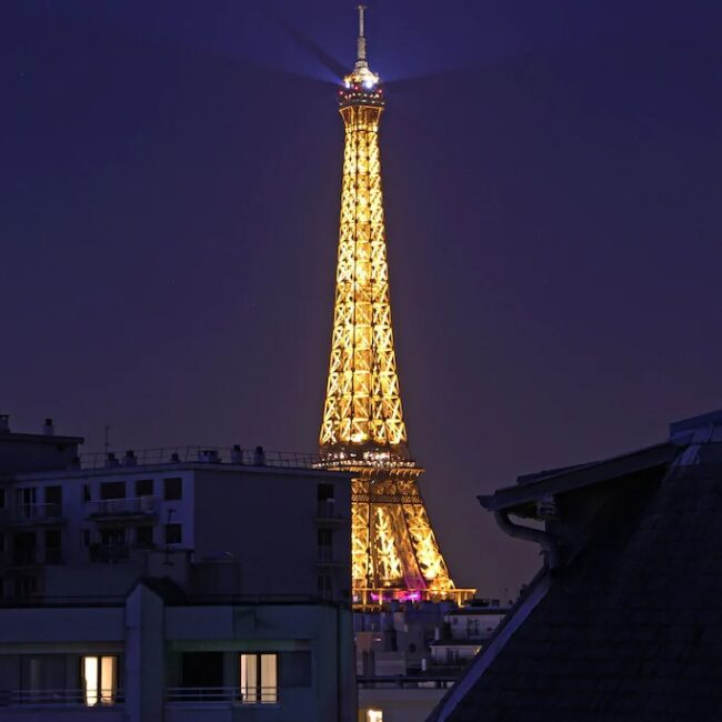 Best Airbnbs in Paris Eiffel Tower View 5 star luxury penthouse view