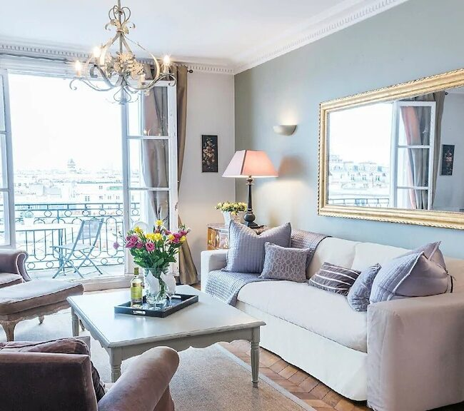 Best Airbnbs in Paris Eiffel Tower View dream come true living room