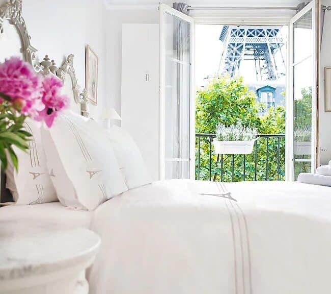 Best Airbnbs in Paris Eiffel Tower View elegant 3 bed bedroom
