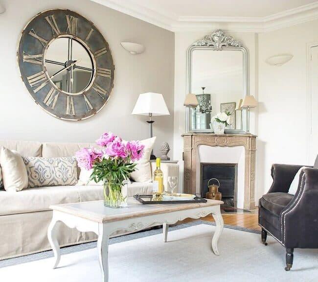 Best Airbnbs in Paris Eiffel Tower View elegant 3 bed living room