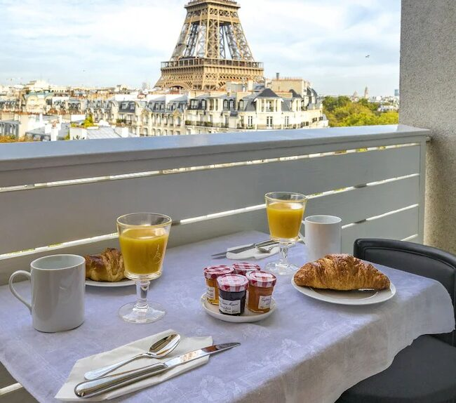 Best Airbnbs in Paris Eiffel Tower View from every room breakfast