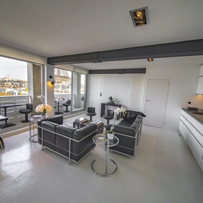 Best Airbnbs in Paris Eiffel Tower View from every room living room