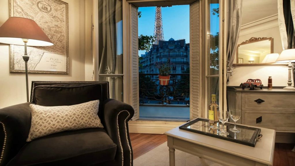 airbnb eiffel tower double french doors