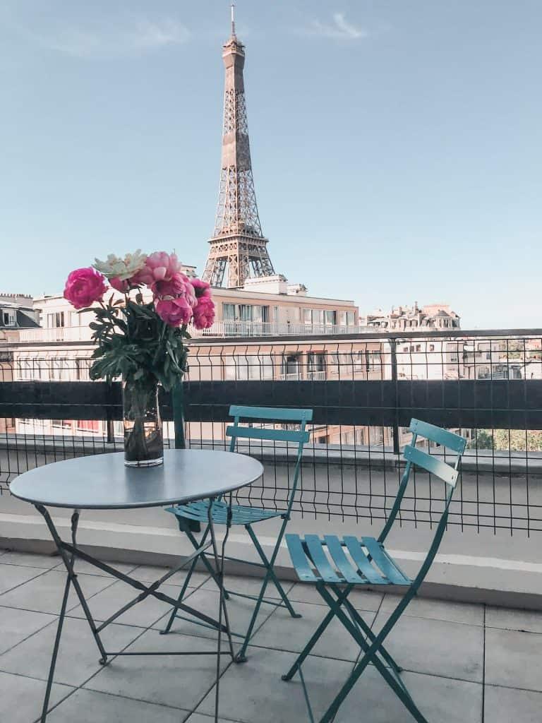 airbnb eiffel tower terrace view_