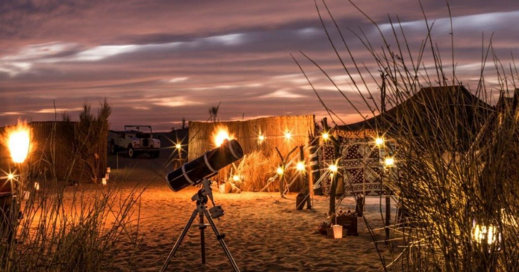 best dubai desert safari stargazing