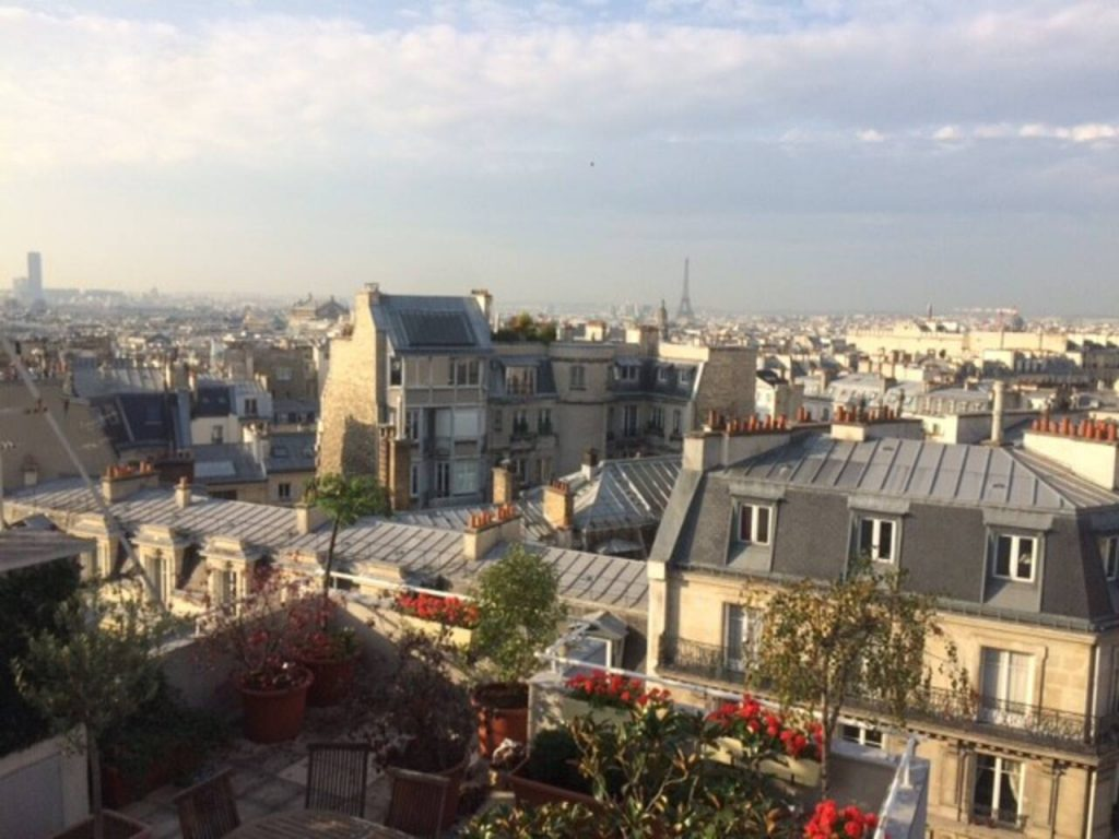 eiffel tower view pigalle
