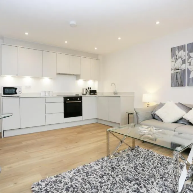 best airbnbs in Bournemouth modern flat livingroom