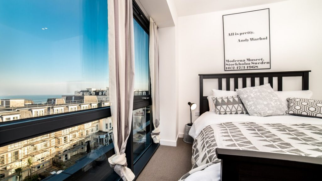 best airbnbs in bournemouth westcliffe apartment bedroom