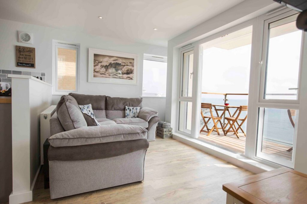 best airbnbs isle of wight luxury seaside apartment living room
