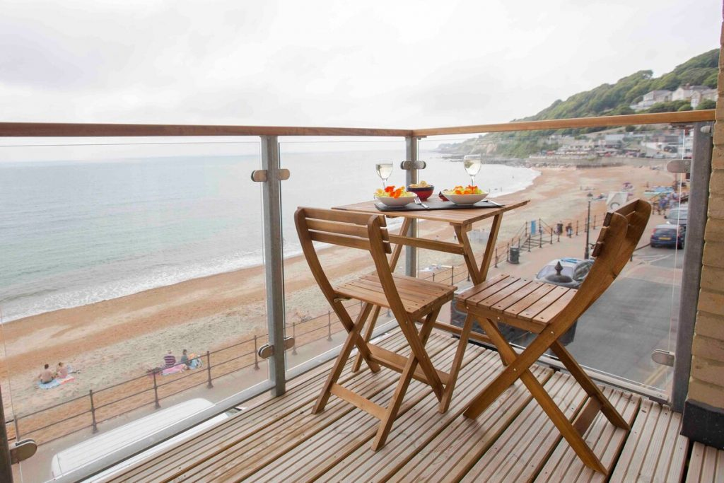 best airbnbs isle of wight luxury seaside apartment patio