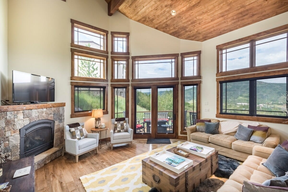best airbnbs copper mountain luxury chalet living room