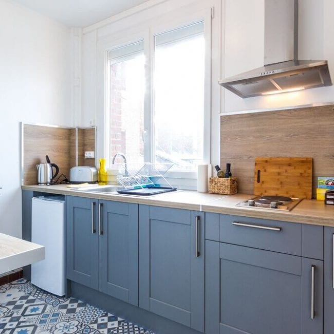 best airbnbs in amiens Studio in the Heart of Amiens kitchen