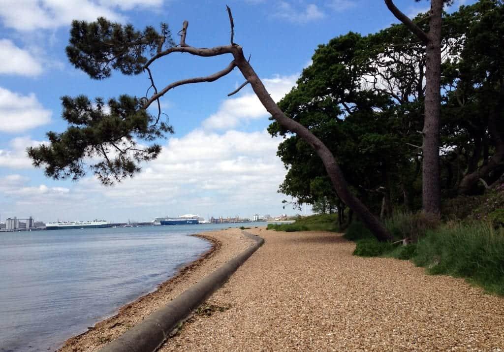 best beaches in southampton Weston Hard Woolston Beach Southamton