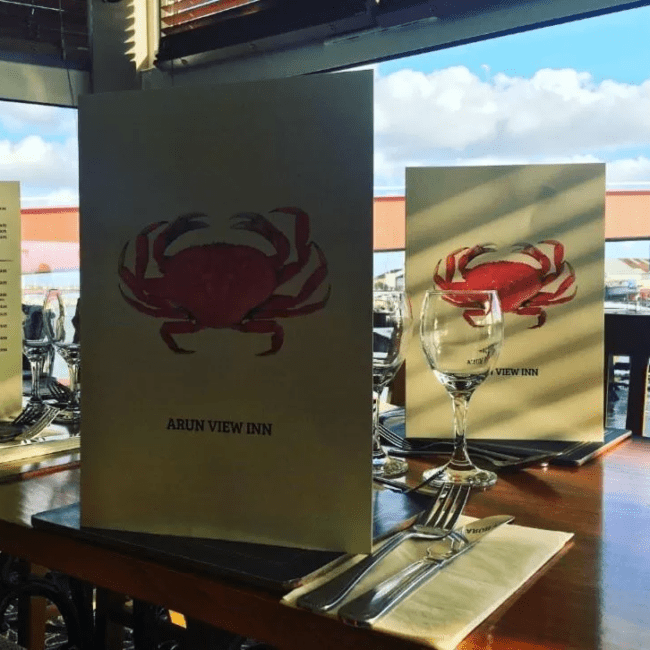best restaurants bognor regis The Arun View Inn menu