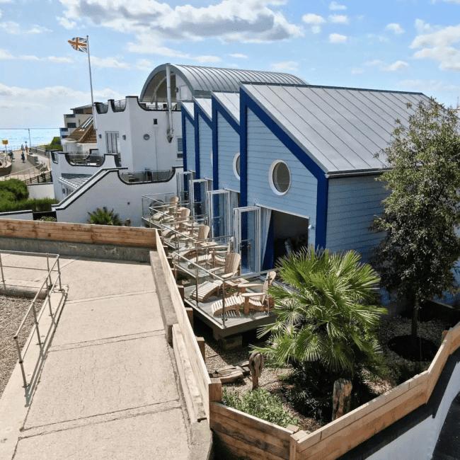 best airbnbs bognor regis The Beachcroft Beach Hut Suites outside