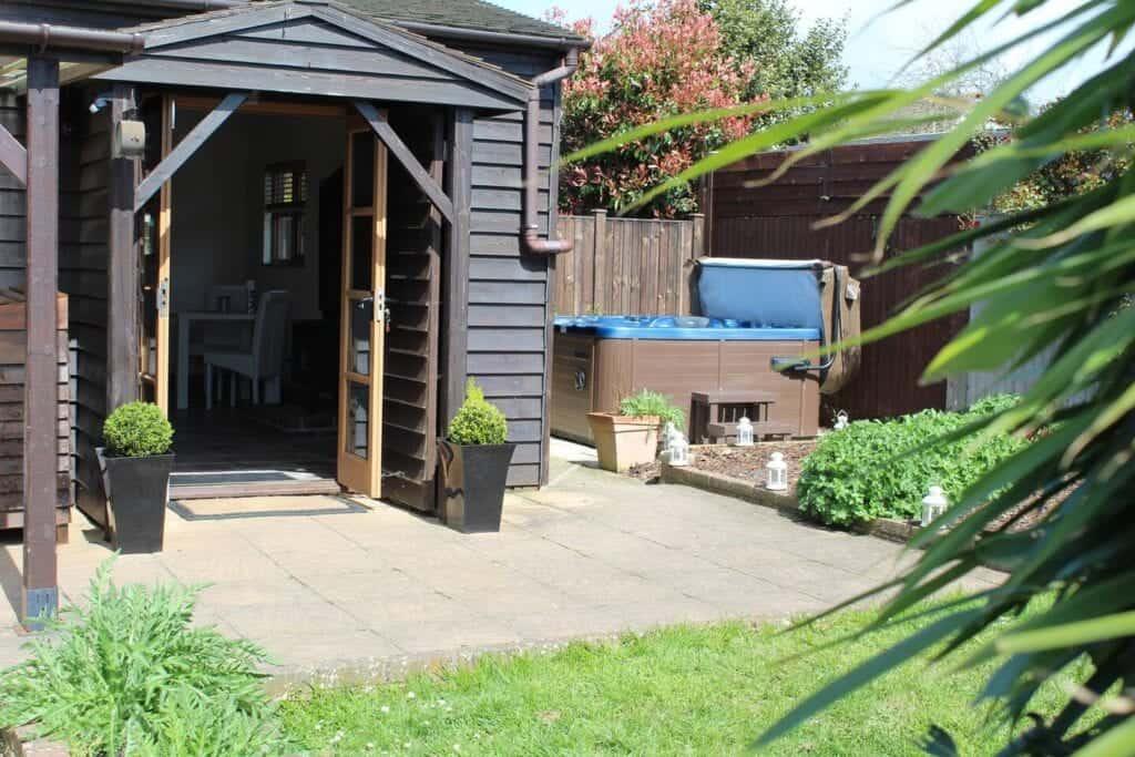 best airbnbs bognor regis barn with hot tub