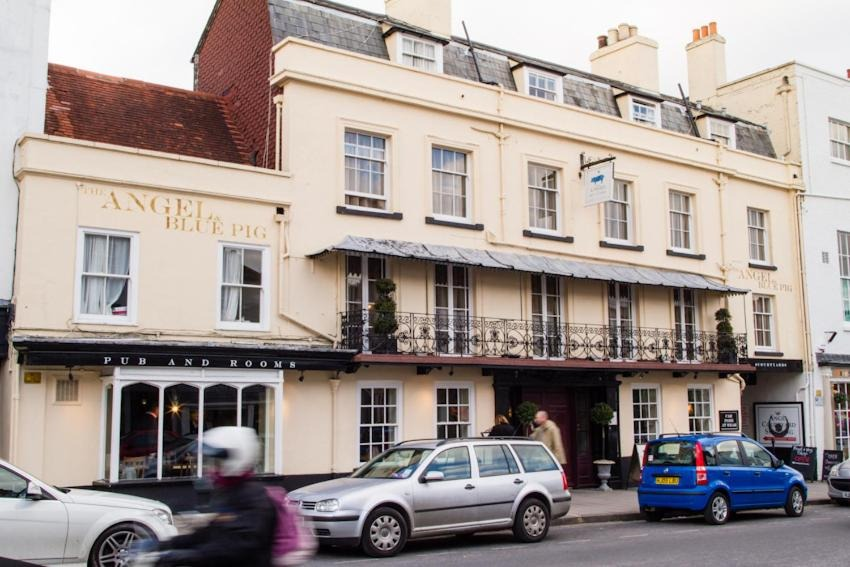 best hotels in Milford on Sea angel and blue pig