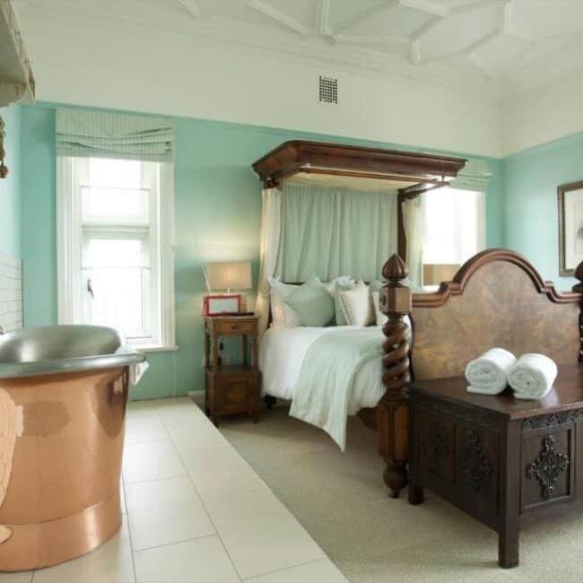 best hotels in Milford on Sea beach house bedroom
