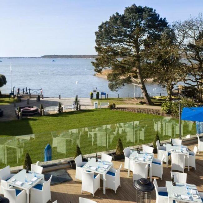 best hotels in Milford on Sea harbour hotel outside