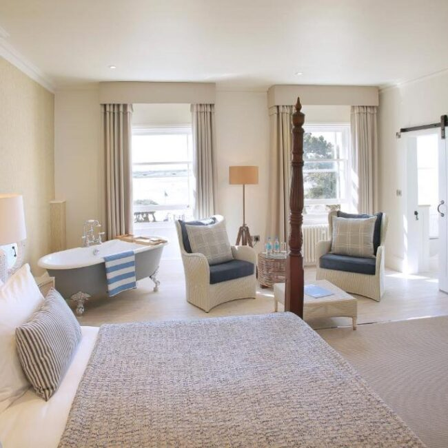 best hotels in Milford on Sea harbour hotel room