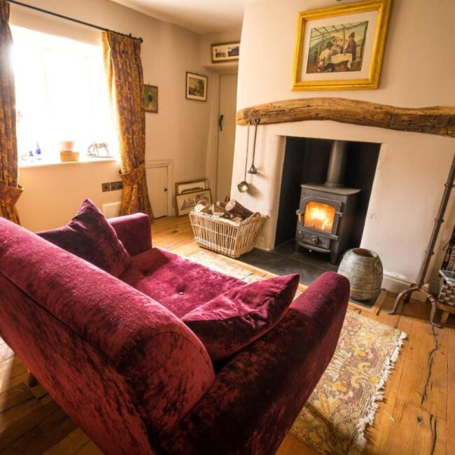 best bed and breakfast new forest thatched cottage living room