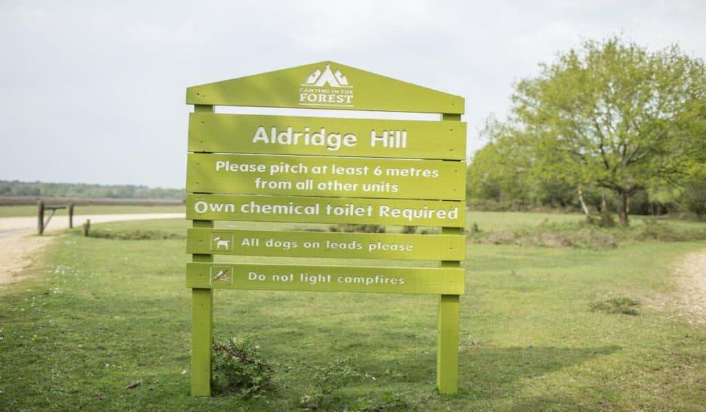 best hampshire camping sites Aldridge Hill Campsite