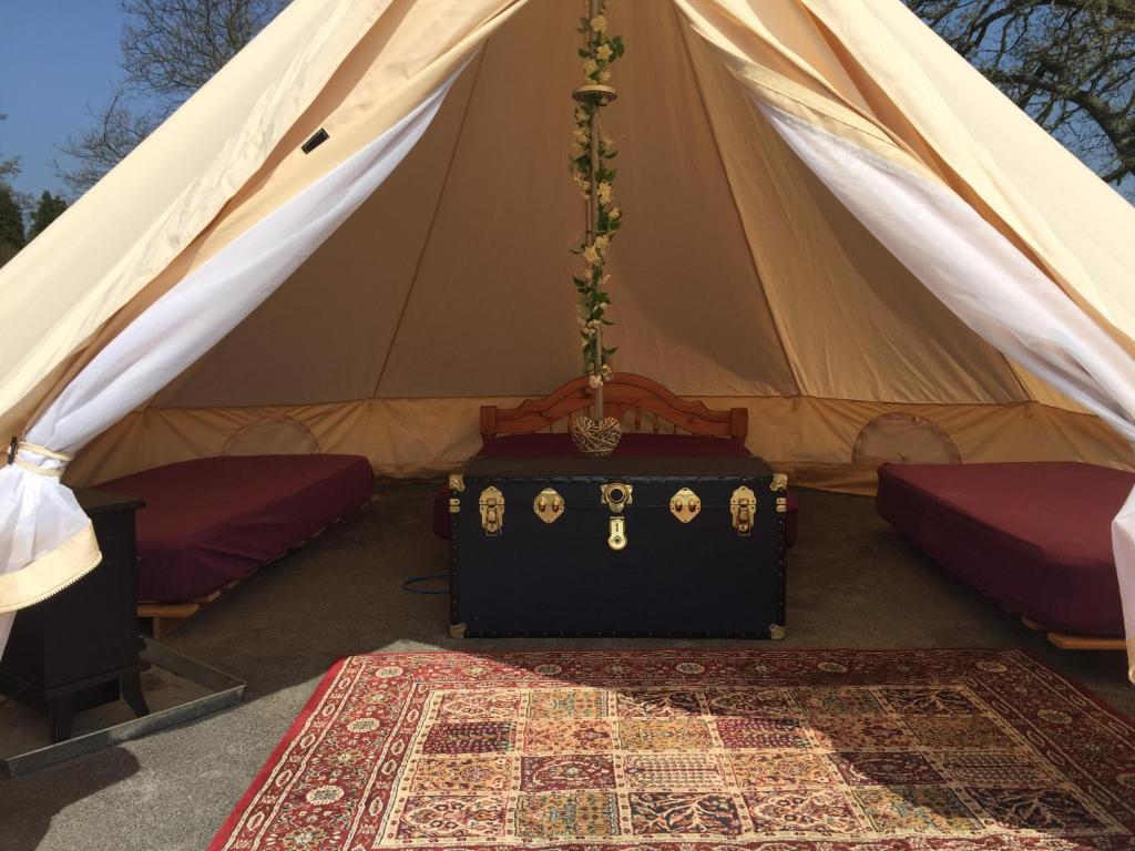 best hampshire camping sites Bell Tent Glamping at Royal Victoria Country