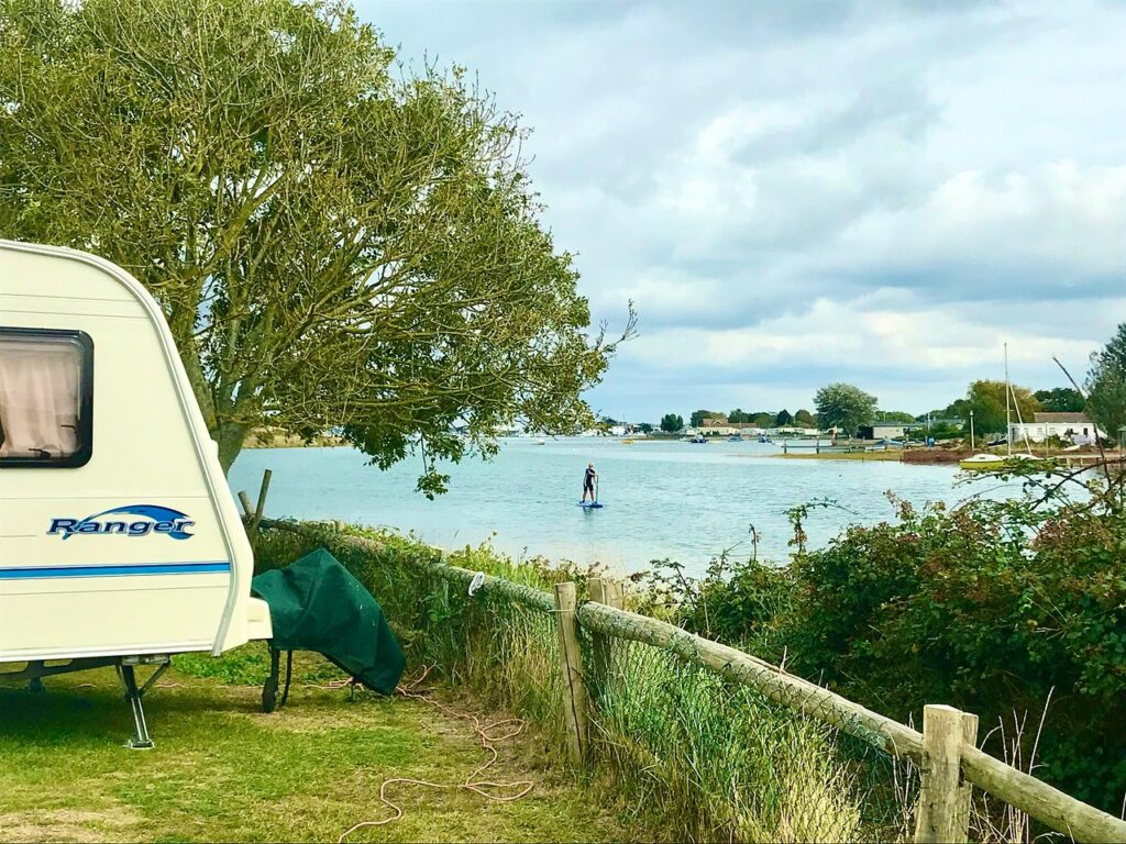 best hampshire camping sites fishery creek
