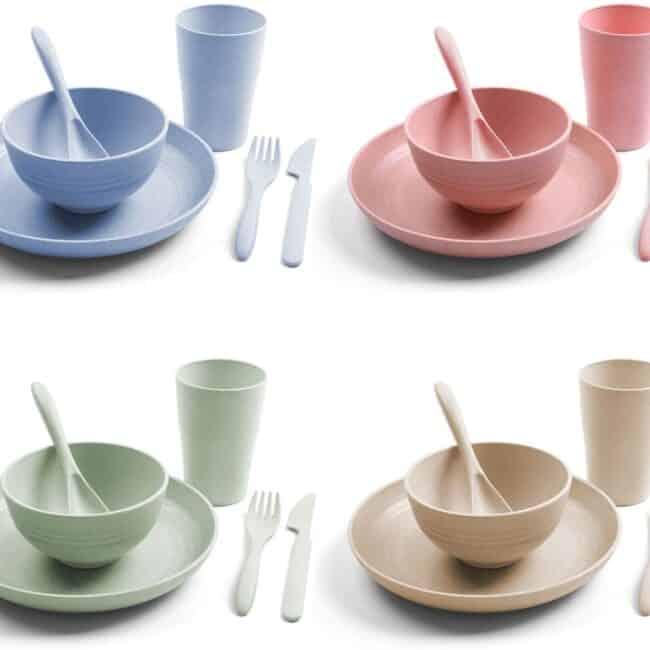 camping kit plates and bowls