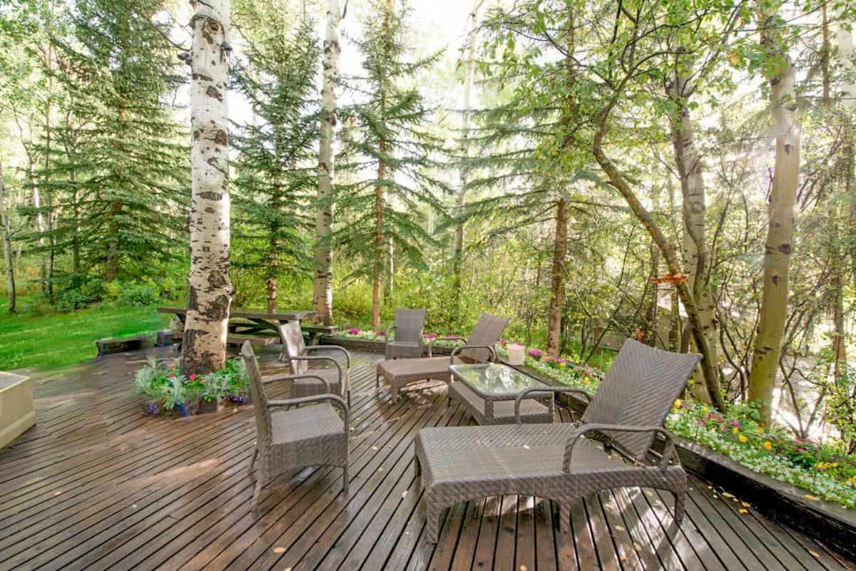 best cabins aspen large house deck